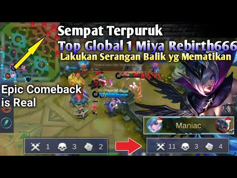 Top Global 1 Miya Rebirth666, Queen Marksman Get Maniac For Epic Comeback [Mobile Legend]