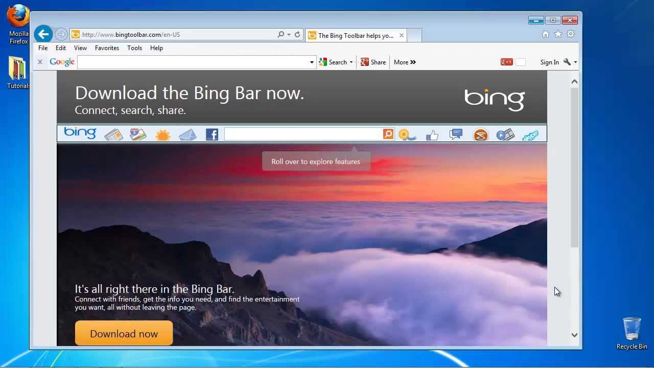 How To Download And Add The Bing Toolbar To Your Internet