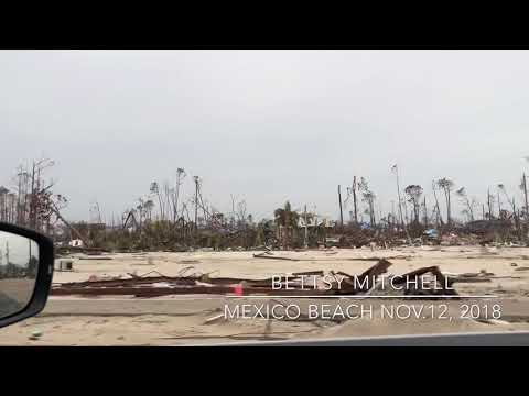 Mexico Beach Hurricane Michael damage, first day open to the public.