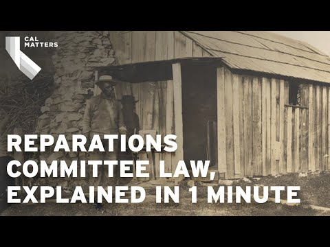 California to launch a reparations committee for descendants of enslaved Americans