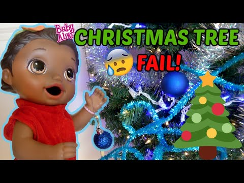 BABY ALIVE DECORATES a CHRISTMAS TREE! The Lilly and Mommy Show. FUNNY KIDS SKIT.