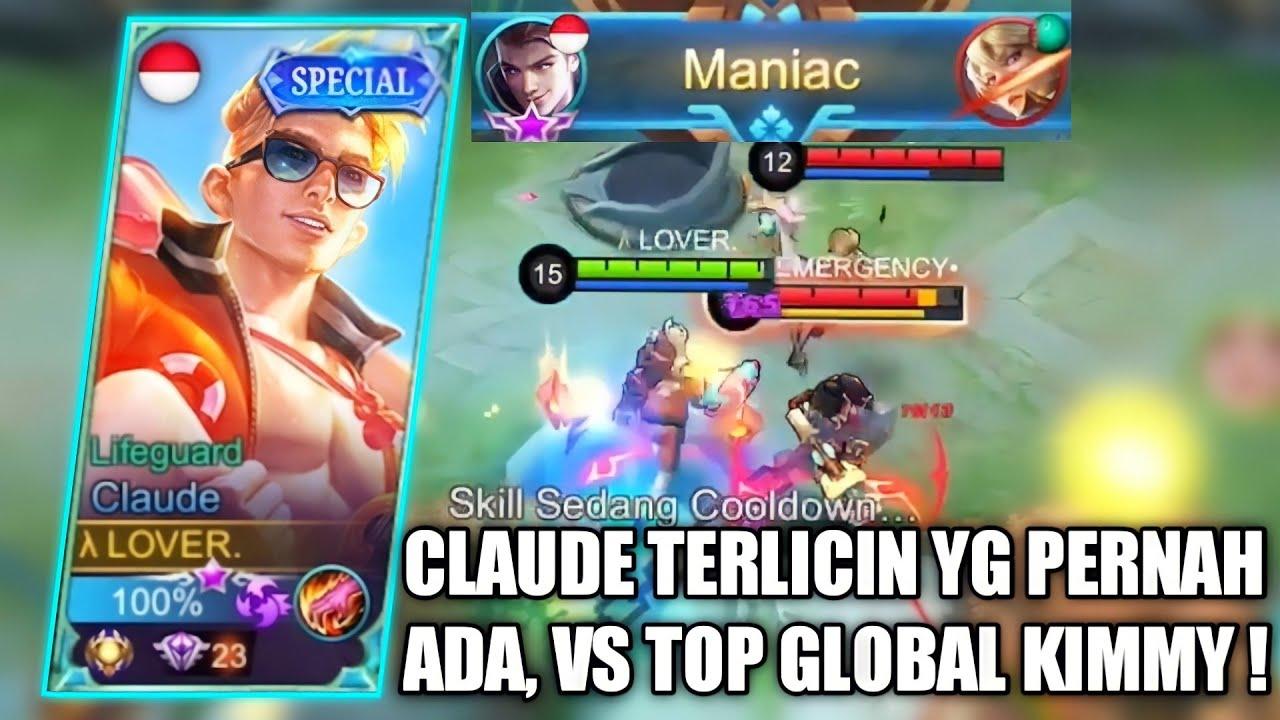 TOP GLOBAL KIMMY TERKEJUT MELIHAT CLAUDE PALING LICIN YG PERNAH ADA!! - MOBILE LEGENDS