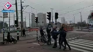 Storm bij het Strijkijzer in Den Haag