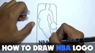 How to Draw a Cartoon - NBA Logo (Tutorial Step by Step)