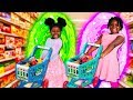 Magic Portal to Grocery Store! (Toys AndFun Sisters Learn to Shop for Healthy Foods)