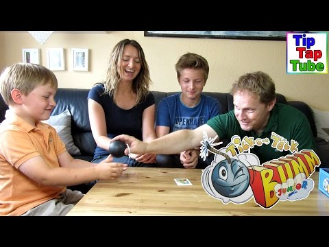 Tick Tack Bumm Challenge  Super lustiges Spiel mit Knalleffekt TipTapTube Kinderkanal