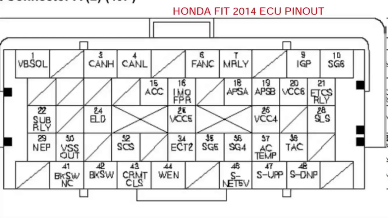 Honda Fit 2014 ecu pinout - YouTube on toyota 4runner diagram, gm horn diagram, gm 1228747 computer diagram, ecu block diagram, ecu circuits, nissan sentra electrical diagram, ecu fuse diagram, ecu schematic diagram, gm transmission diagram, gm power steering pump diagram, exhaust diagram, gm steering column diagram,