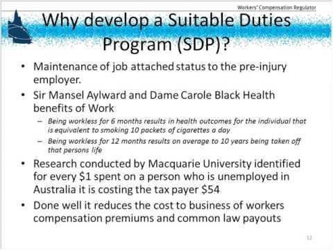 Suitable Duties Programs
