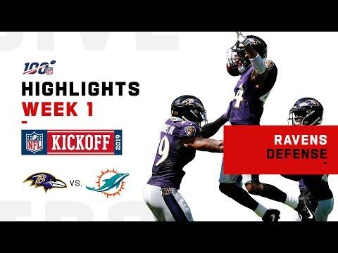 Ravens Defense Dominates Dolphins   NFL 2019 Highlights