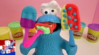 Koekiemonster eet koekjes - Play Doh Nederlands Koekiemonster eet ijs van klei