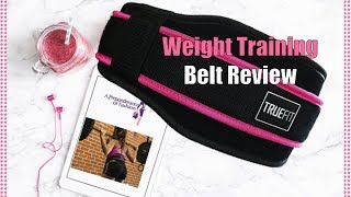 Strength Training Belt + How to Measure Shown on Petite Woman   TRUEFIT Power Lifting Belt Review