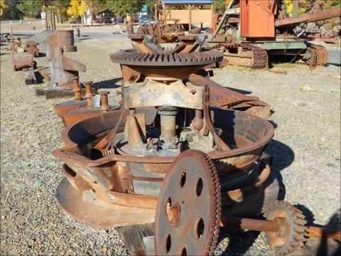 Gold Dredge and Mining Equipment on display in Sumpter, Oregon