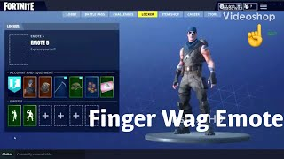 FORTNITE SEASON 5 Finger Wag Fuite EMOTE!!! ☝️