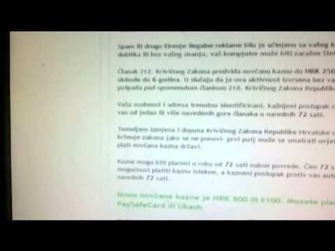 Hitna PC Služba MUP virus modificiran