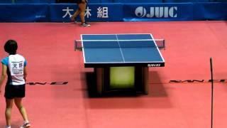 Table Tennis Japan Top 12;Sakura Mori vs  Yu Amano 2013.2.24