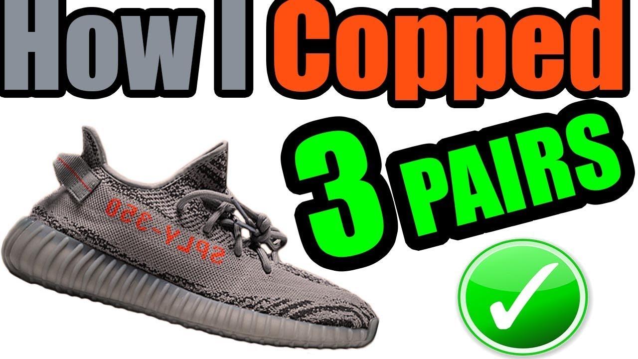 cf98037f1b23a How I Got 3 PAIRS Of BELUGA 2.0 YEEZY BOOST 350 V2s Manually - YouTube