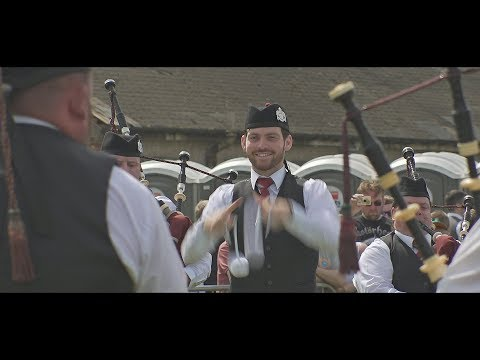 St Laurence O'Toole at the 2018 Paisley Pipe Band Championships
