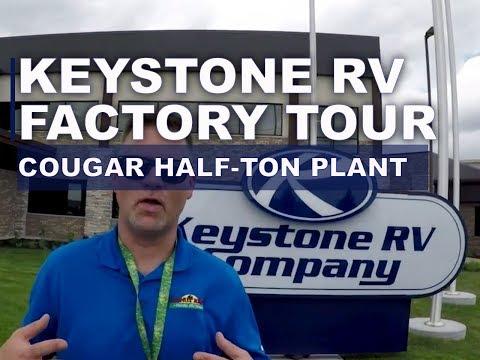 Keystone RV Factory Tour - Cougar Half-Ton fifth-wheel Plant