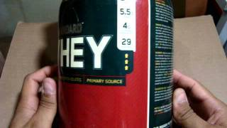 Optimum Nutrition, 100% Whey Gold Standard 2lb  -  UNBOXING