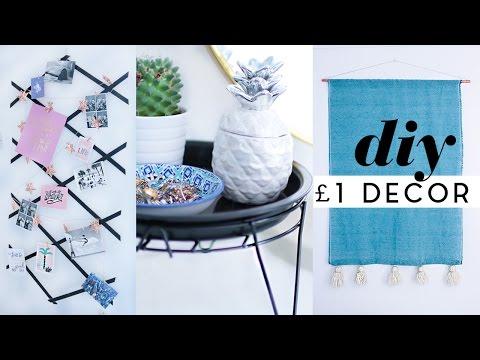 Budget DIY £1 Room Decor February 2017   DIY Tapestry, Photo Grid & More