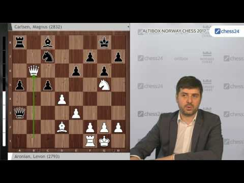 Peter Svidler analyses Aronian - Carlsen, Norway Chess 2017