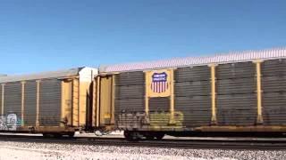 BNSF 4940/5265/1816 N/B auto train Pleasanton Kansas.