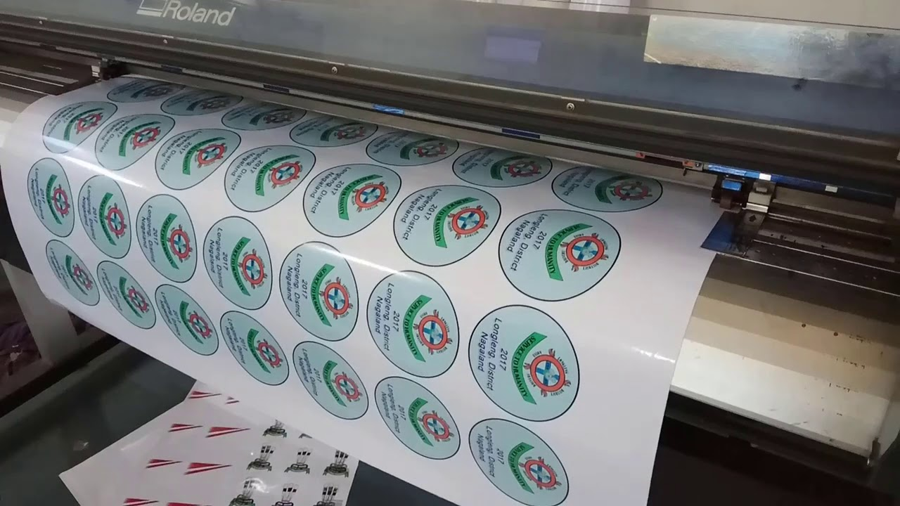 Vinyl sticker printing and cutting roland printer
