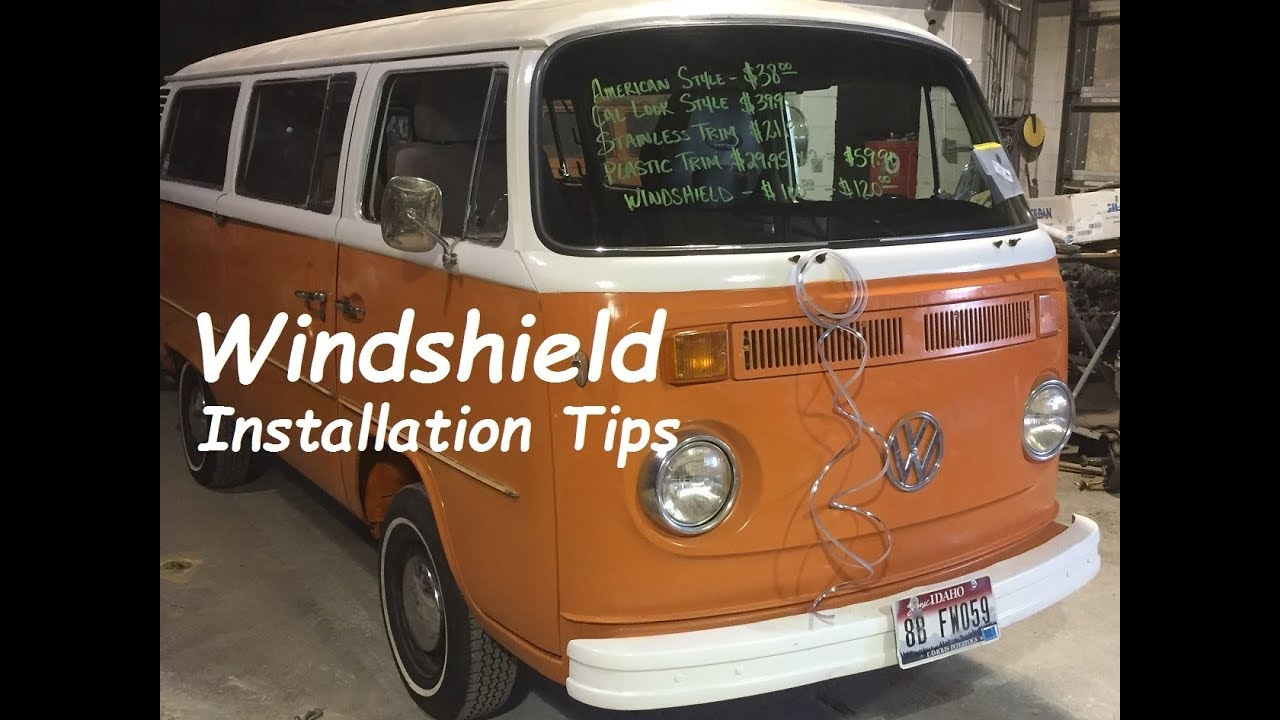volkswagen bay window bus windshield installation tips vw bus youtube