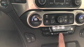 2019 Chevy Tahoe Air Controls