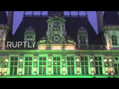 France: Paris town hall goes green to protest US pulling out of climate accord