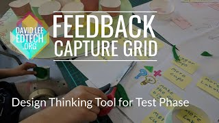 Design Thinking Feedback Tool - Feedback Capture Grid