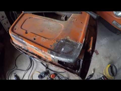 Vw Camper Bus (1970 Dormobile) restoration. 'Day 8 - cab door frame repair'