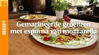 Gemarineerde groenten met espouma