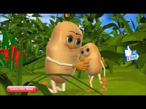 Aloo kachaloo   Hindi poem   3D animation Hindi Nursury rhyme for children / Aaloo kachaloo beta