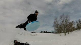 Extreme Sledding/Tubing - Snow Tube Jumping.