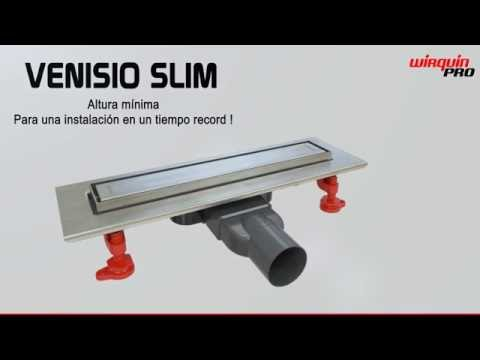 Plateado vilstein Hux Home con sif/ón de desag/üe canaleta para ducha y desag/üe 80/cm c/írculos VS-DB01-40K