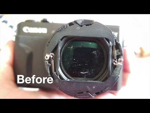 Canon G7X Mark ii - How to clean the lens from inside