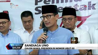 Dana Awal Kampanye Prabowo-Sandi Rp 2 M