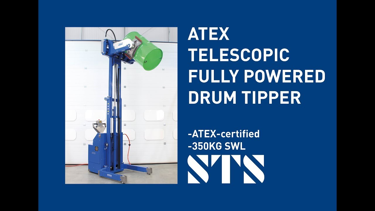 ATEX Telescopic Power Drive, Power Clamp Drum Tipper