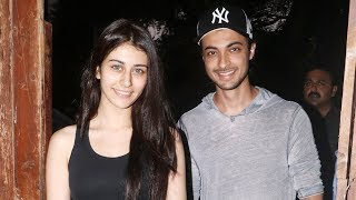 Aayush Sharma and Warina Hussain spotted post dance rehearsals for 'Loveratri'