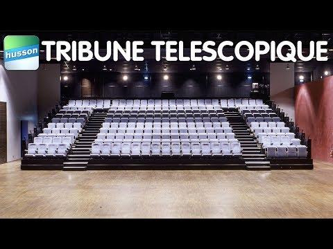 Tribune télescopique Husson International