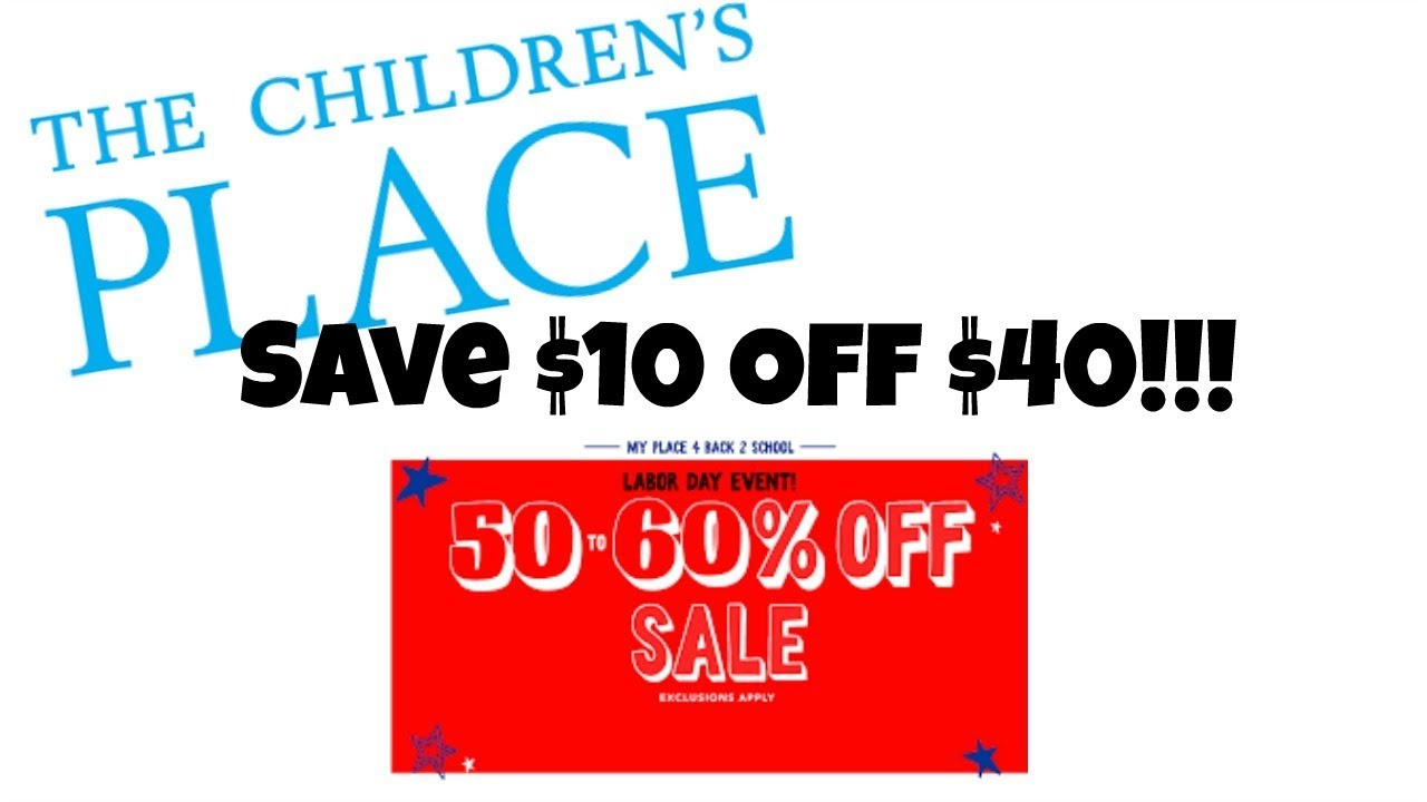ede5371830fed The Children s Place Clothing Haul! How To Save  10 Off  40! - YouTube