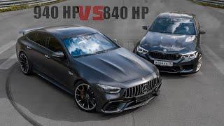 940 л.с. Mercedes-AMG GT63s VS 840 л.с. BMW M5 F90. Борьба противоположностей!