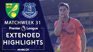 Norwich City V. Everton | Premier League Highlights | 6/24/2020 | Nbc Sports