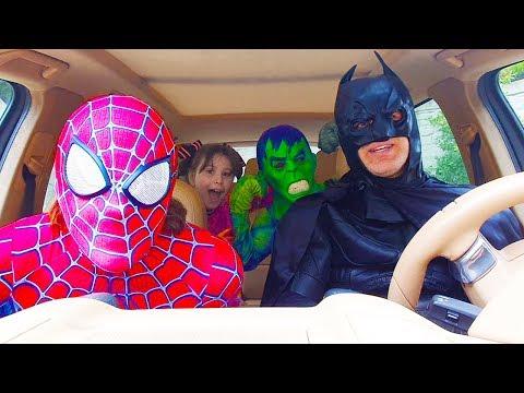 !Super Hero Dancing in car Kids Story