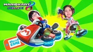 Carreras en Mario Kart 8 Deluxe en Español un Gameplay de Abrelo Game