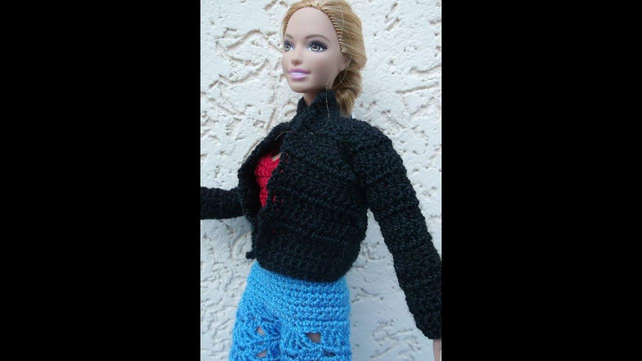 Связать курточку для куклы