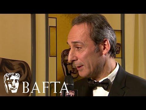 Alexandre Desplat talks backstage on his Original Music BAFTA win for The Shape of Water