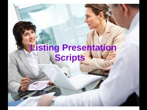 Listing Presentation Scripts & Dialogues