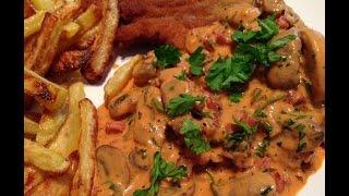 Ich Koche Heute: Jägerschnitzel Mit Selbstgemachter Jägersauce/champignon-sahne-sauce (rezept)